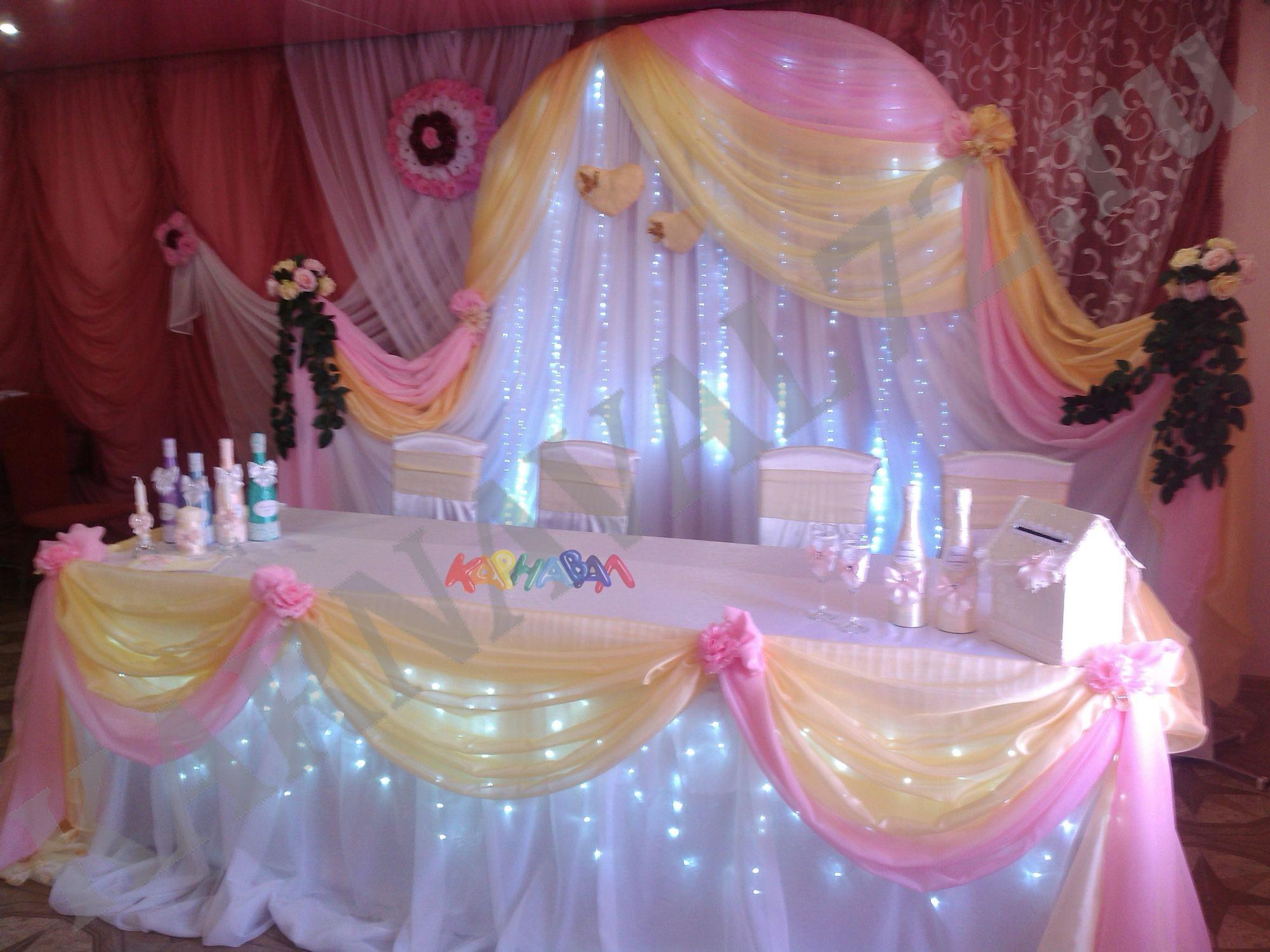 Украшение зала на свадьбу в Москве: свадебное оформление и 77